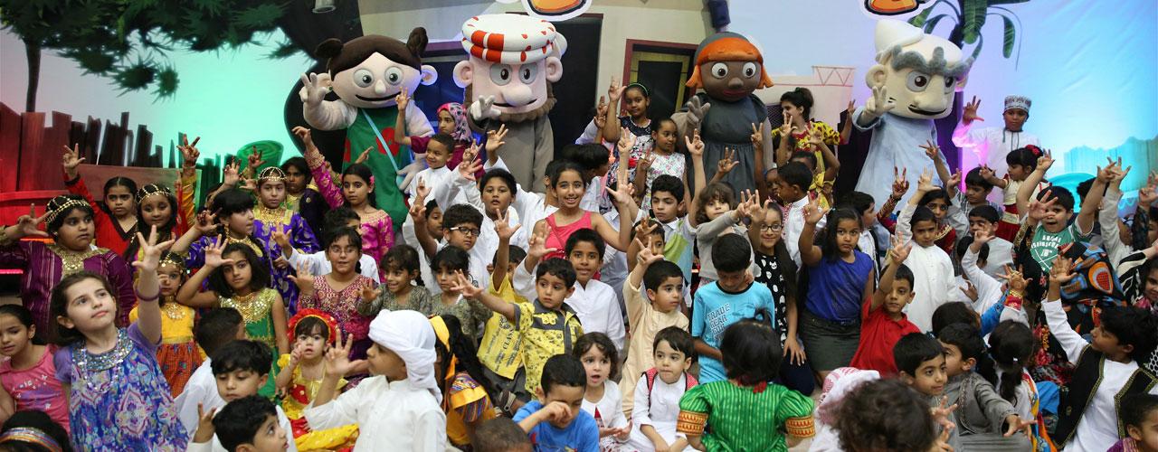 Shaabiat Al Cartoon shares with children their joy of Hag Al Laila in Heart of Sharjah